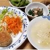 南瓜のコロッケ・甘やかし新玉葱のスープ