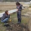 3月18日 第1回どろんこくらぶ ビオトープ池を作ったよ