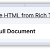 Make HTML from Rich Text