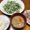 超簡単レシピ‼️塩ネギ肉炒めと水菜のツナサラダが簡単すぎるのにこの美味さ‼️