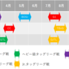 開催期間でみる各団体リーグ・トーナメント戦