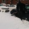 車が凍りました