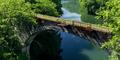 旧国鉄士幌線第三音更川橋梁補修工事が開始されました。