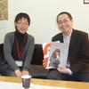 角川書店の高寺重徳氏(映像企画局映像企画部プロデューサー)が図書館長室を訪れた