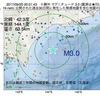 2017年09月20日 00時01分 十勝沖でM3.0の地震