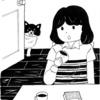 教室で描いた白黒イラスト