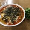 長者町の「華隆餐館」で高菜牛肉麺+2辛+パクチー