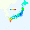 Rate of Deaths from Leukemia by Prefecture in Japan, 2015