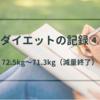 【ダイエットの記録④】運動をはじめてからの体重の変化【72.5kg~71.3kg減量終了】