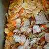 ローストポークと香味野菜