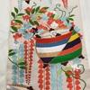 帯(袋帯) 唐織・糸巻と藤柄