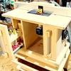 【DIY】バッテリー式 トリマーテーブル マキタRT50D装備で電気設備がなくても使えて 持ち運びが可能なトリマーテーブル(8日間作業記録)