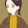 【フリーイラスト素材】ビッグシルエットコートの女の子