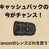 キャンペーンの今がチャンス!Canonレンズどれを買う?
