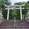 梅雨の宗忠神社の新緑。