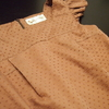 月居良子さんの「フォーマル&リトルブラックドレス」より、フリル袖のワンピースを縫う。
