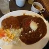東京▪大手町【ビアチムニー 丸の内店】キーマカレー&ハンバーグ(大盛) ¥900