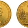 イギリス1667年チャールズ2世ブレダの平和 大型金メダル