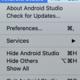 Android Studioのエディタのフォントサイズを変更