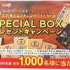 QUOカード付き・幻の希少なメキシコホワイトカカオ入りSPECIAL BOXプレゼントキャンペーン