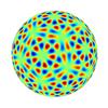 球面調和関数で正20面体をつくる(3) - l=28までの表