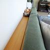 【無印】1カ月後再レビュー。ソファ背面に設置した壁に付けられる棚。