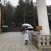 満月、雨の日、諏訪大社。
