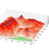 スペースシャトルの標高データSRTMで富士山近辺の立体地形図を描いてみた