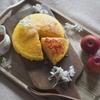 スフレチーズケーキ on 金木犀シロップ。