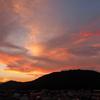 台風前日の夕景。