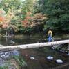 沈下橋の原型、北川川「早瀬の一本橋」