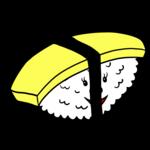 かわいい玉子の寿司 のイラスト