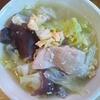 鶏ももキャベツきくらげ卵スープ
