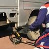 キャンピングカーがパンク!自動車保険のソニー損保でスペアタイヤに交換