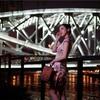 上海浦西蘇州河の鉄橋で夜のチャイナドレスポートレート撮影会「上海灘」