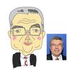 緊急似顔絵(IOCのバッハ会長)を描きました。オリンピック延期なん?