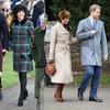 Tenues de Noël Meghan Markle et enceinte Kate Middleton
