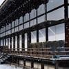 京都御所に降る雪 「少納言よ、香炉峰の雪いかならん」