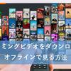 ストリーミングビデオはダウンロードできる?!オフラインで見られる?!保存する方法を紹介!