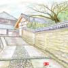 奈良の石畳。