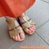 女ゴコロをくすぐる人気カラーで♡肌美色グリッターミックスなオレンジ&ピンクのレディペディ☆