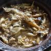20冊目『今夜はこの鍋で決まり!』より3回めはせん切りしょうがときのこたっぷりひき肉鍋