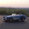 '58 Corvetteに乗って、隣町へ打ち合わせ。