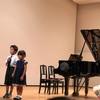 ピアノ発表会でした