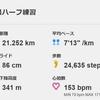 信州駒ヶ根ハーフマラソンの練習(4)