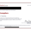 Compiler | Stanford Online を受講した