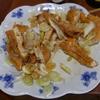 幸運な病のレシピ( 720 )朝 :イワシ干し、安田の三角揚げ照り焼き(リンナイ赤外線グリラー 「R-3452-III」)、味噌汁