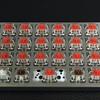 Planckキーボードのスイッチとキーキャップ。