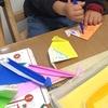 折り紙で恐竜作り。