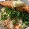 鮭で鮭を食べる鮭ご飯:シリコーンスチーマーでレンチン手軽